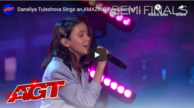 Daneliya Tuleshova Sings an AMAZING Rendition of
